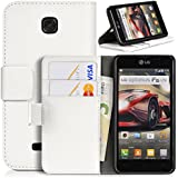 DONZO Wallet Structure Tasche für LG Optimus F5 P875 Weiß