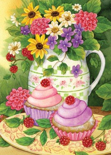 Toland Home Garden Garden Cupcakes 28 X 40 Inch Decorative
