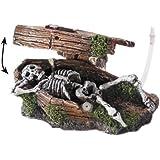 Europet Bernina 234-108017 Action Decor Sarg mit Skelett, 14.5 x 9 x 7 cm