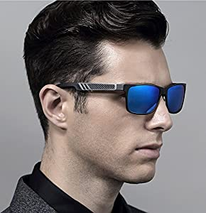 New Polaroid rimed Sunglasses Driving Brand Designer Fashion Oculos Male 888C(Front-4cm,Length-13.5cm)