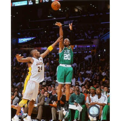 (8x10) Ray Allen Game Two of the 2009-10 NBA Finals Glossy Photograph