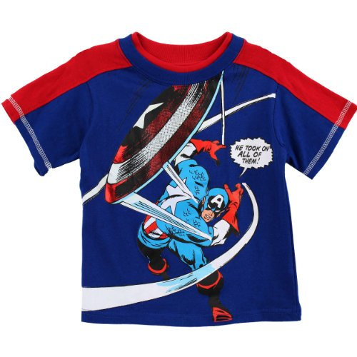 Captain America Toddler Blue T-Shirt MVA34453