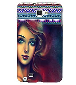 PrintDhaba Beautiful Girl D-5623 Back Case Cover for SAMSUNG GALAXY NOTE 1 (Multi-Coloured)