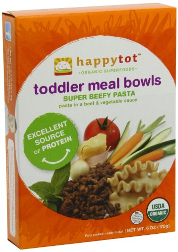 Happy Tot Toddler Meal Bowls, Super Beefy Pasta, 6 Ounce Boxes (pack Of 12) Picture