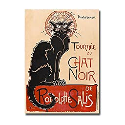 Chat Noir by Théophile-Alexandre Steinlen Premium Gallery-Wrapped Canvas Giclee (Ready to Hang)