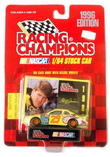 1996 Edition Racing Champions NASCAR 1/64th Stock Car ~ STEVE GRISSOM - No. 29 Chevrolet Monte Carlo ~ Flintstones Graphics