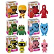 Funko YO GABBA GABBA 3.75&quot; Vinyl Figure Set DJ LANCE ROCK, TOODEE, FOOFA, PLEX, BROBEE, &amp; MUNO