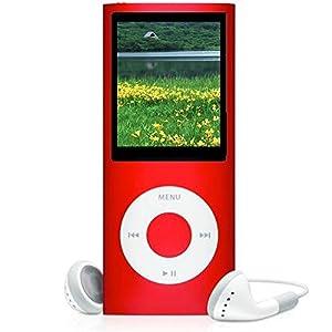 "8GB Slim 1.8"" 4th LCD MP3 MP4 Player FM Radio Video Player RED"