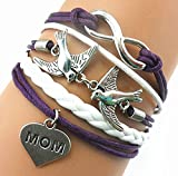 Handmade Entagram One Direction Charm for Friendship Gift - Fashion Personalized Leather Bracelet