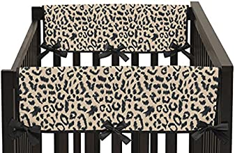 Animal Safari Teething Protector Cover Wrap Baby Unisex Boy or Girl Crib Side Rail Guards - Set of 2
