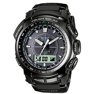 CASIO Pro Trek PRW-5100-1ER - Reloj de caballero de cuarzo, correa de resina color negro