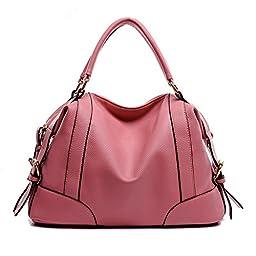 Hynes Victory Womens Luxury Hobo Handbag (Pink)