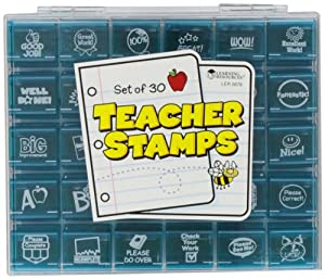 Jumbo Teacher Stamps Set; 30 Per Set; no. LER0678