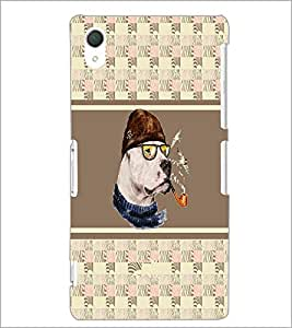 PrintDhaba Smoking Dog D-3836 Back Case Cover for SONY XPERIA Z2 (Multi-Coloured)