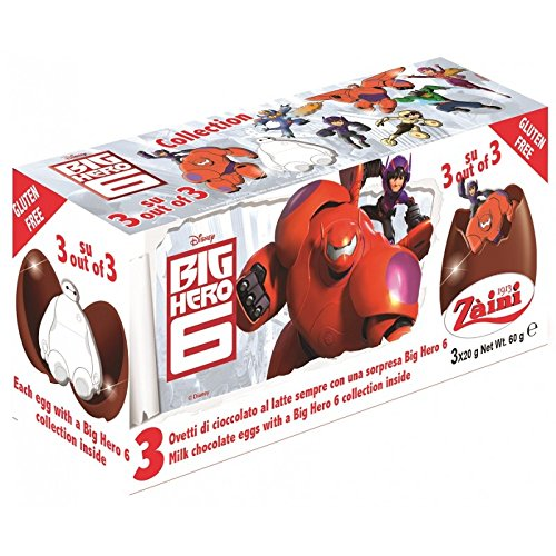 Disney BIG HERO 6 Zaini Milk Chocolate with Surprise Collection 3 Eggs