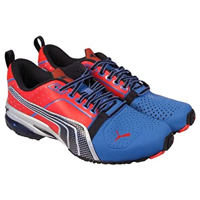 Puma Mens Cell Gen Red Blue Casual Lace Up Athletic Running Shoes My GN (9)