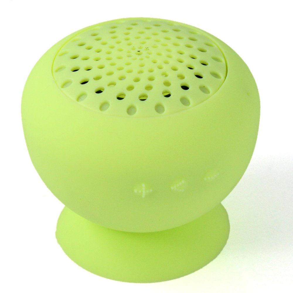 Generic Light Green Wireless Mini Mushroom Bluetooth Waterproof Speaker with Suction Cup and Built-in Mic for iPhone, Samsung, Cellphone, Computer, Tablet waterproof wireless bluetooth v4 0 car speaker w suction cup green white black