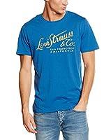 Levi's Camiseta Manga Corta Brand Graphic Snl G (Azul Medio)