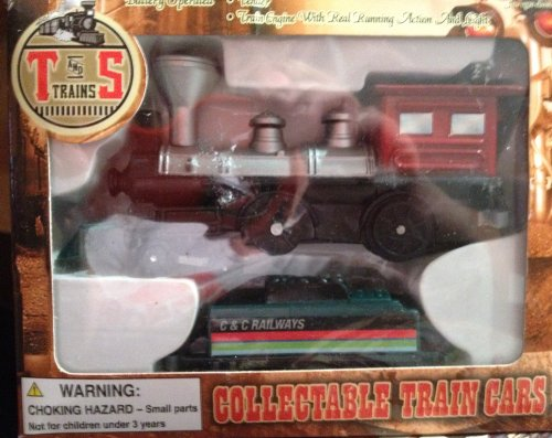 T and S Trains Collectable Train Cars Caboose & Standard Flat Car - 1