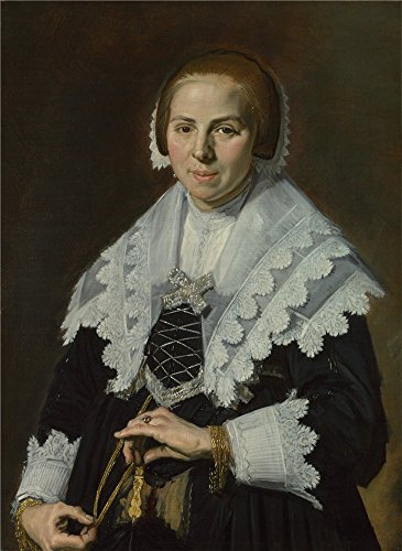 High Quality Polyster Canvas ,the Beautiful Art Decorative Canvas Prints Of Oil Painting 'Frans Hals Portrait Of A Woman With A Fan ', 20 X 27 Inch / 51 X 70 Cm Is Best For Garage Gallery Art And Home Artwork And Gifts