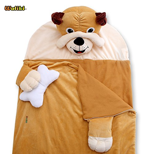 WALIKI TOYS Nap Mat | Slumber Bag for Boys and Girls | Dog, Puppy | Sleeping Bag for Kids