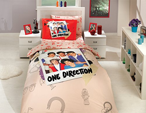 One Direction - Licenced Original Duvet/Comforter Cover Set - Twin size - 100% Cotton (Ranforce) - 3 pieces, One direction (Comforter One Direction compare prices)