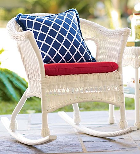 Easy Care Resin Wicker Rocker, in White (White Wicker Resin Chair compare prices)