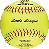 Worth Fast Pitch Little League Pro Leather Soft Balls, 11