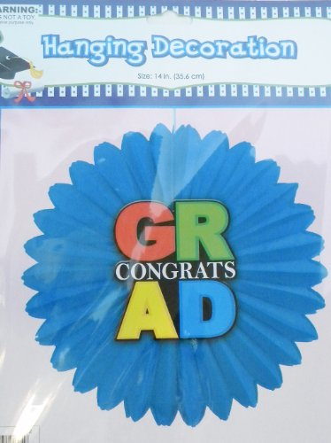 Congratulation Graduation Hanging Decoration - One 14 Inch Decoration - 1