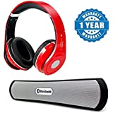 Captcha Apple IPad Mini Compatible Certified STN-10 Bluetooth Stereo Sports Wireless Bluetooth Headphone With Hand Free Calling,FM Radio With Wireless BE-13 Bluetooth Stereo Speaker Supports AUX, MicroSD Card (1 Year Warranty)