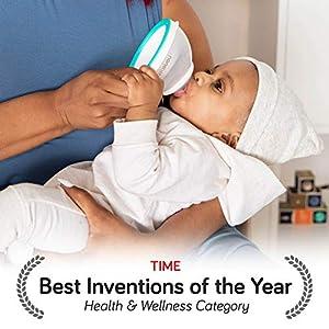 nanobebe Breastmilk Baby Bottle (Award Winning Innovation for Breastfed Babies), BreastfeedingNewbornBreast Like, Anti Colic, Easy Latch, Preserves BreastMilk nutrients, Teal (Color: Teal, Tamaño: 1 Count)