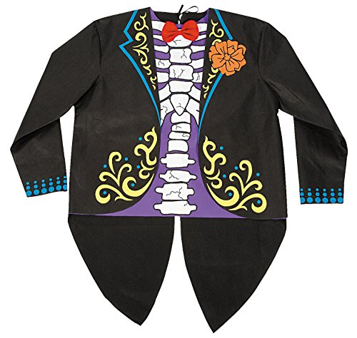Day of the Dead Man's Tuxedo Shirt Costume
