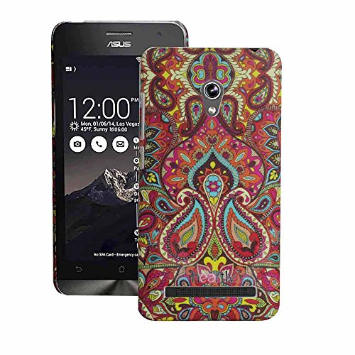 Heartly Aztec Tribal Art Printed Design Retro Color Armor Hard Bumper Back Case Cover For Asus Zenfone 5 Lite A502CG - Colorful Mehndi  available at amazon for Rs.220