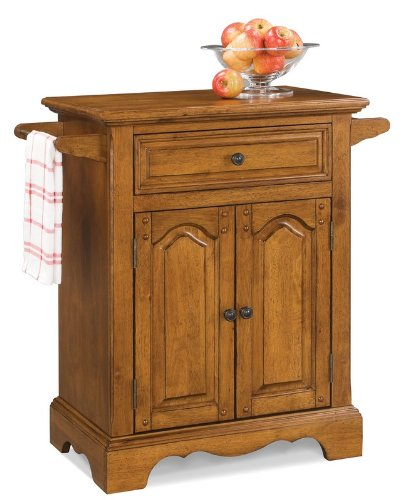 Cheap Kitchen Cart with Hidden Casters in Oak Finish (VF_HY-5538-951)