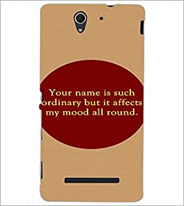 PrintDhaba Quote D-2906 Back Case Cover for SONY XPERIA C3 (Multi-Coloured)