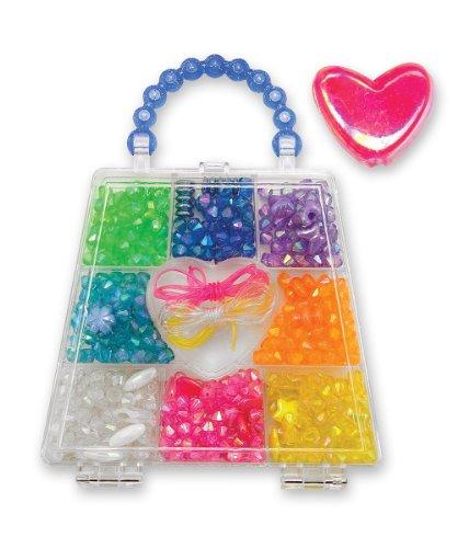 Rainbow Crystals Bead Set (500+ Beads) + FREE Melissa & Doug Scratch Art Mini-Pad Bundle [42703]