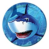 Creative Converting Shark Splash Round Dinner Plates, 8 Count