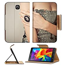 buy Samsung Galaxy Tab 4 7.0 Inch Flip Pu Leather Wallet Case Advertizing Of Ornaments Ring On A Hand Of The Young Girl Image 32122851 By Msd Customized Premium