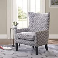 Madison Park Carissa Shelter Wing Chair – Multi – 29.92W x 30.71D x 42.13H""