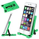 ikross Green Universal Portable Collapsible Desk Stand holder For Smartphones