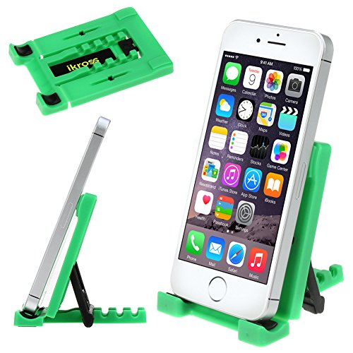 Ikross Green Universal Portable Collapsible Desk Stand Holder For Smartphones, Mp3 Players, Iphone