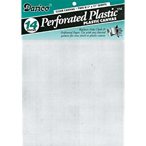 Image: Darice Plastic Canvas 14-Count 8.5x11 2/Pkg-Clear