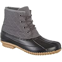 Dept 222 Liam Quilted Womens Rain Boots (Black/Gray)