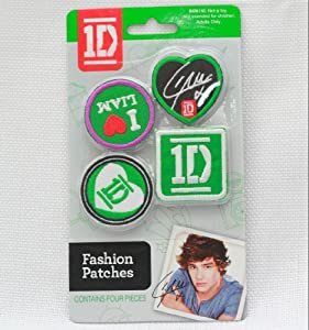 1D One Direction Fashion Patches Autographed - Iron On Liam 4pc from One Direction