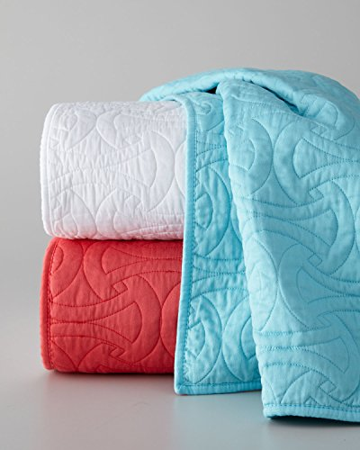 Find Bargain Trina Turk Santorini King Quilted Coverlet Turquoise Blue