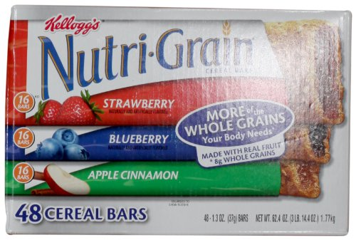 Nutri-Grain-Kelloggs Cereal Bars Variety Pack, 48/1.3 oz