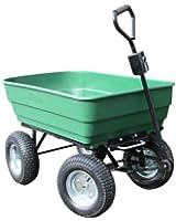 125L - Chariot de Jardin Cuve Basculante - 4 Roues
