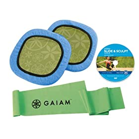 Gaiam Pilates Slide and Sculpt Kit with DVD