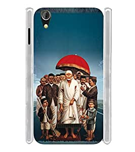 Lord Shirdi Sai Baba Sab Ka Malik Ek Soft Silicon Rubberized Back Case Cover for Gionee Pioneer P5W