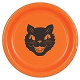 Lote de 12 paquetes de 8 platos gatos halloween 22 cm aprox.